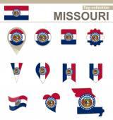 Missouri Flag Collection — Stock Vector