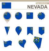Nevada Flag Collection — Stock Vector