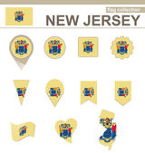 New Jersey Flag Collection — Stock Vector