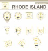 Rhode Island Flag Collection — Stock Vector