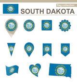 South Dakota Flag Collection — Stock Vector