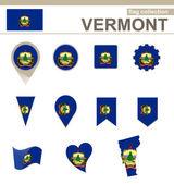Вермонт флаг коллекция — Cтоковый вектор