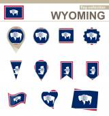 Wyoming Flag Collection — Stock Vector