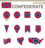 Confederate Flag Collection — Stock Vector
