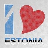I Love Estonia — Stock Vector