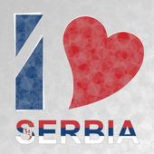 I Love Serbia — Stock Vector