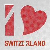 I Love Switzerland — Stock Vector