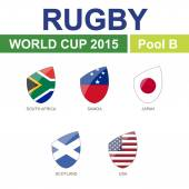Rugby World Cup 2015 — Stock Vector