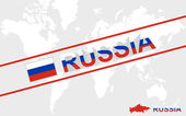 Russia map flag and text illustration — Stock Vector
