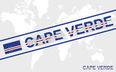 Cape Verde map flag and text illustration — Stock Vector