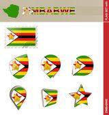 Zimbabwe Flag Set, Flag Set 85 — 图库矢量图片