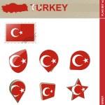 Turkey Flag Set, Flag Set 2 — Stock Vector #77621008