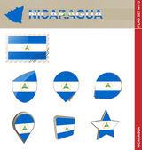 尼加拉瓜标志设置,设置 113 — 图库矢量图片