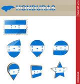 Honduras Flag Set, Flag Set 114 — Stock Vector