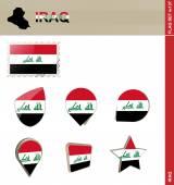 Iraq Flag Set, Flag Set 137 — Stock Vector