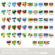African countries set, hearts and flags, part 2 — Stock Vector #82687984