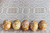 Hand-painted Easter eggs — Stock Photo