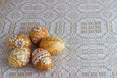 Ovos de Páscoa pintados à mão — Fotografia Stock