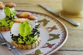 Cake with cream mushroom — Stock Photo