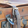Old style suitcases outdoors — Stock Photo #55771813