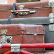 Old style suitcases outdoors — Stock Photo #55771989