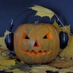 Pumpkin with headphones — Stock Photo #55778277