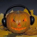 Pumpkin with headphones — Stock Photo #55778295