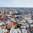 Lviv bird's-eye view of from of the City Hall, Ukraine — Stock Photo #55779819