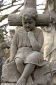 The statue of the boy. — Stock Photo