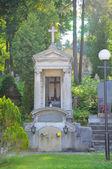Old statue in Lychakiv Cemetery in Lviv, Ukraine  — Stock Photo