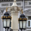 Antique lamp post near Lviv State Academic Opera and Ballet Thea — Stock Photo #62605531