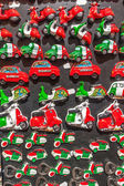 Collection of souvenir magnets in Italy — Stock Photo