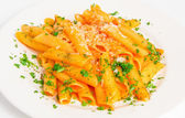 Pasta penne with tomato sauce — Stock Photo
