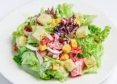 Caesar Salad on white — Stock Photo
