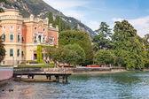 Expensive villa on Lake Garda — Stock Photo