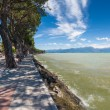 Pedestrian alley on the banks of Garda lake — Stock Photo #59437561
