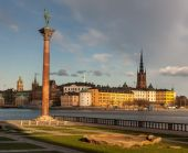View over the old town in Stockholm, Sweden — Zdjęcie stockowe