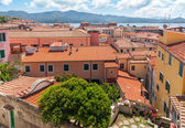 The view from the roof small old town on Lake Garda — Stock Photo
