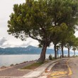 Pedestrian alley on the banks of Garda lake — Stock Photo #60657267
