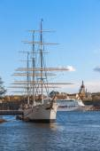 Scenic summer panorama of the old Town in Stockholm, Sweden — Stock Photo