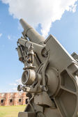 Old weapons - anti-aircraft guns, after war in Croatia — Stock Photo