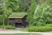 Small house in Norway mountain. — Stock Photo