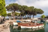 Boats in the harbor, Lake Garda — Foto de Stock