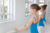 Three little ballet girls posing together — Stock Photo