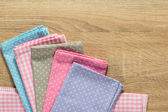 Kitchen rags in various colors — Stock Photo