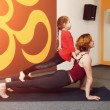 Постер, плакат: Mother and child yoga practice