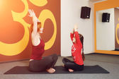 Mother and child yoga practice — Foto Stock