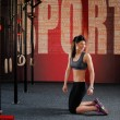 Crossfit workout on ring — Stock Photo #70118947