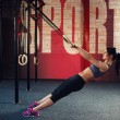 Crossfit workout on ring — Stock Photo #70118971
