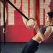 Crossfit workout on ring — Stock Photo #70119025